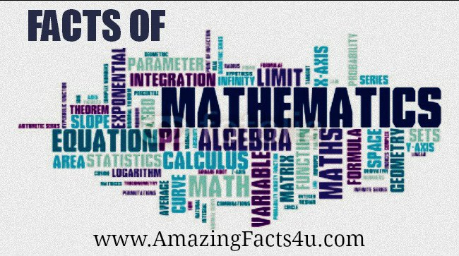 Mathematics Amazing Facts 4u