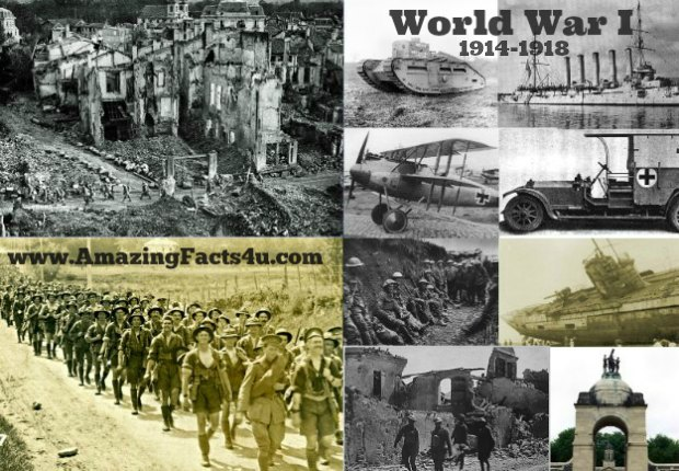 World War I Amazing Facts 4u