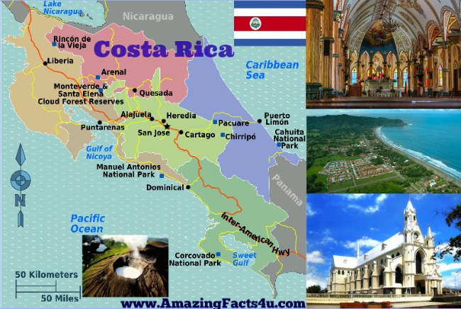 Costa Rica Amazing Facts 4u