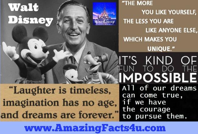 Walt disney fun facts