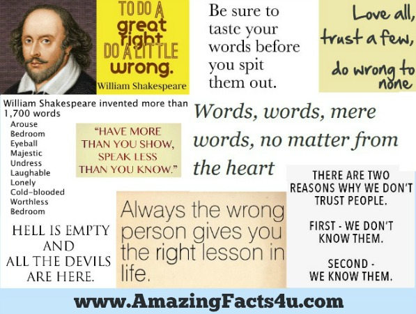 amazing-facts-shakespeare